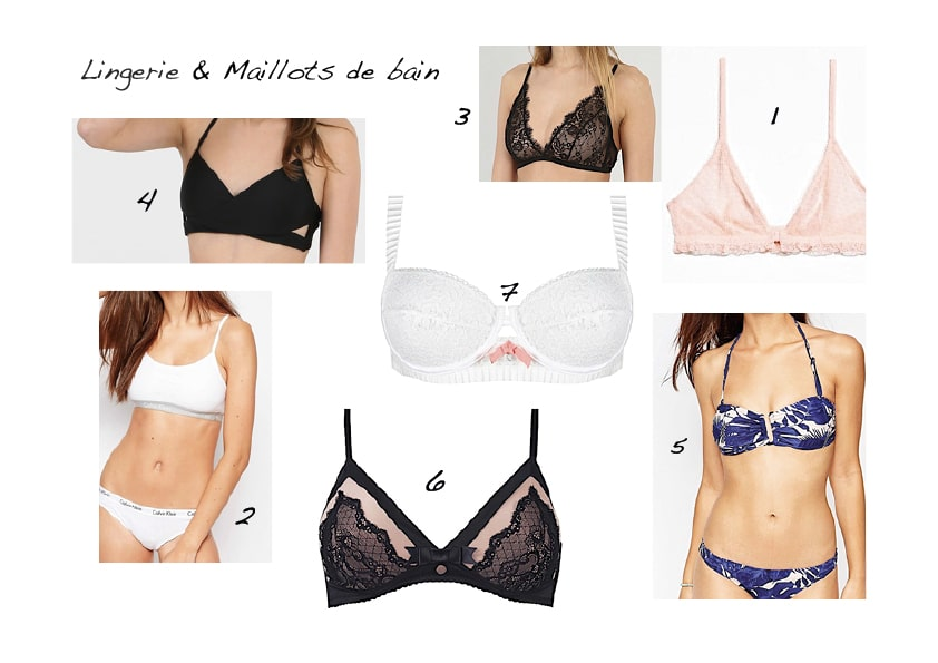 Lingerie maillots