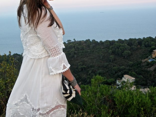White dress in Begur