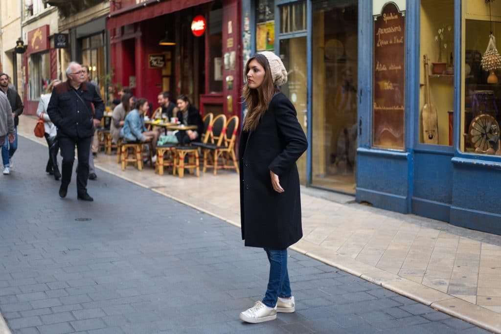 Manteau long en laine mélangé Uniqlo