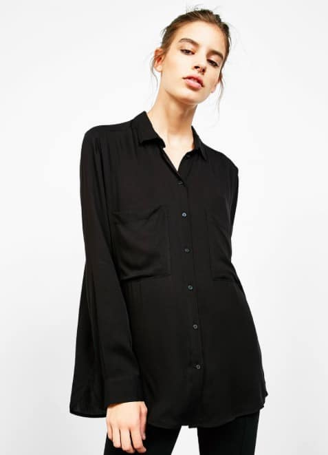 Bershka chemise noire