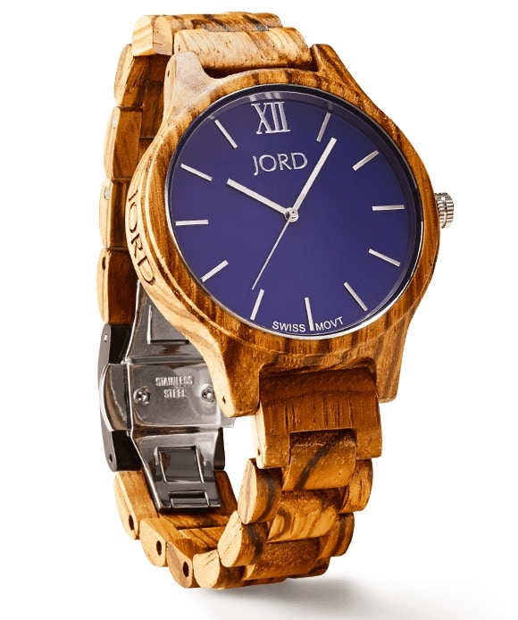 Jord Wood Watch - Zebrawood