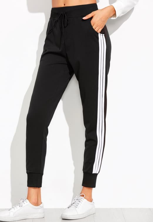 Jogging noir et blanc - SHE IN