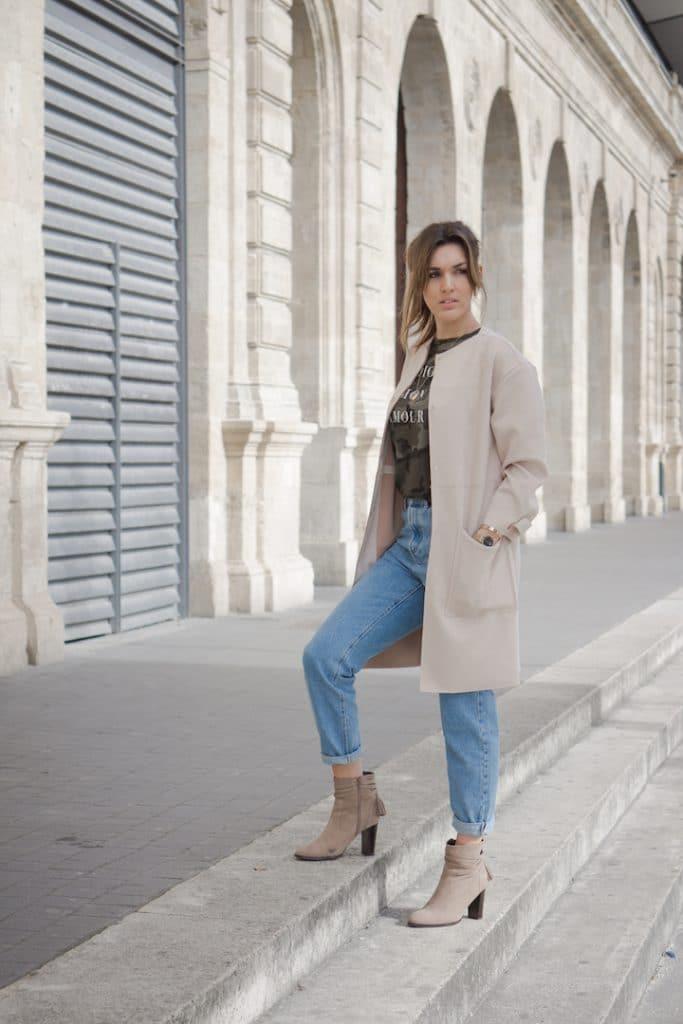 Jean Mom Fit et veste Suédine Zara