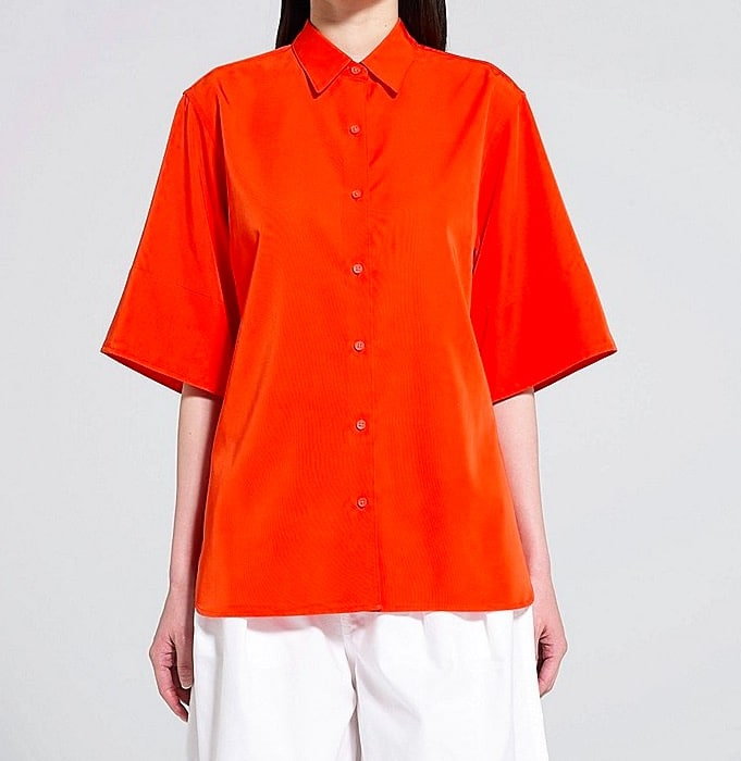 Chemise collection U orange uniqlo