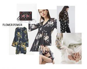 Robe fleurs, Imprimé brodé