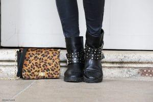 Sac leopard Follow Me et Boots Mango