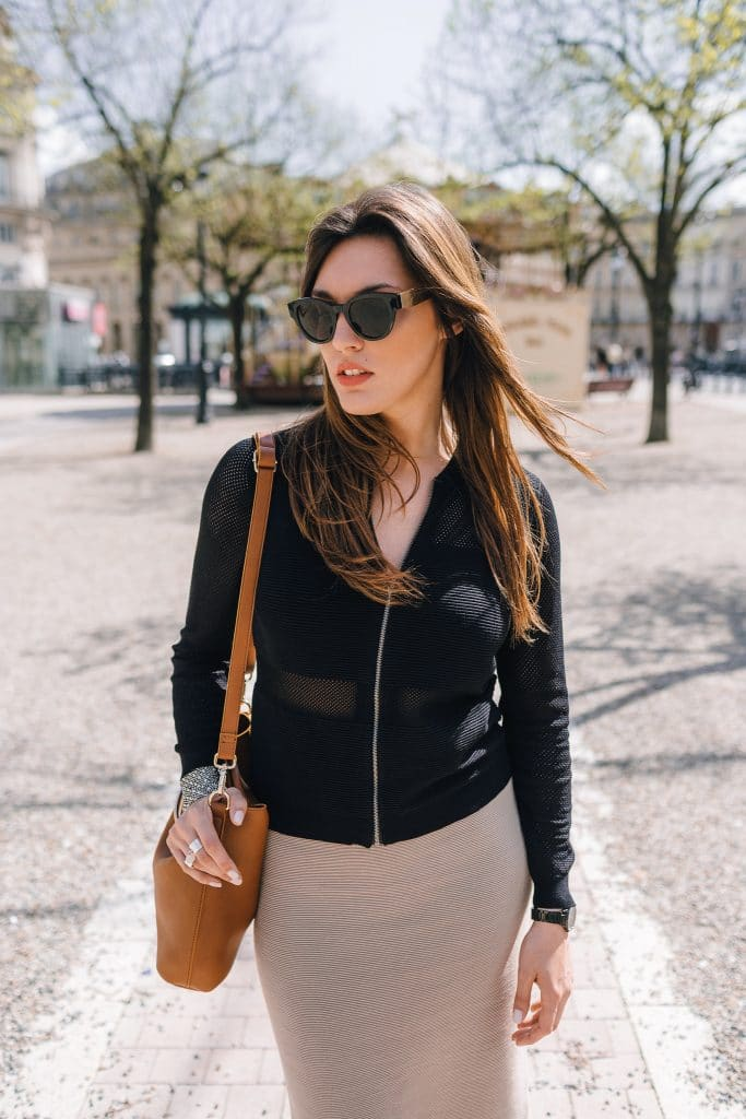 Gilet résille noir et lunette And others stories - Milovely blog