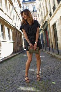 Combishort H&M et pochette Sacha Shoes