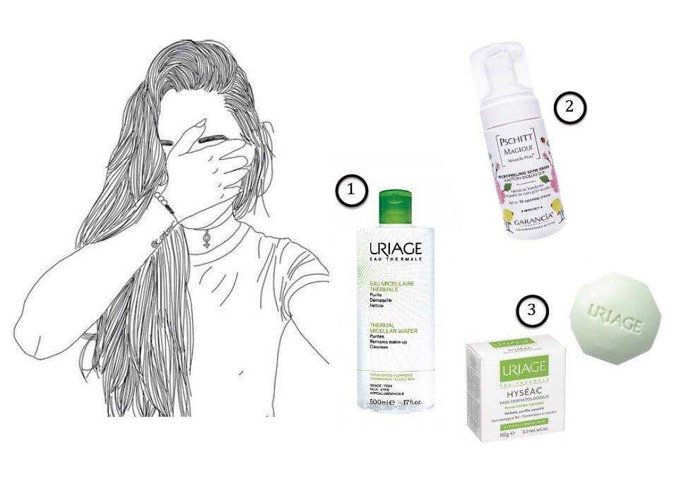 Produits pour nettoyer la peau