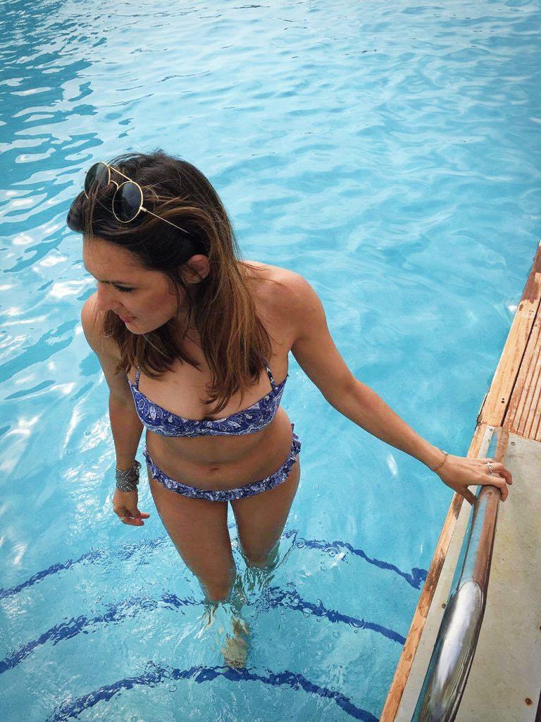 Piscine vue sur mer Sofitel Biarritz et maillot de bain Camaieu