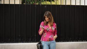 Blouse kimono rose Camaïeu - Milovey