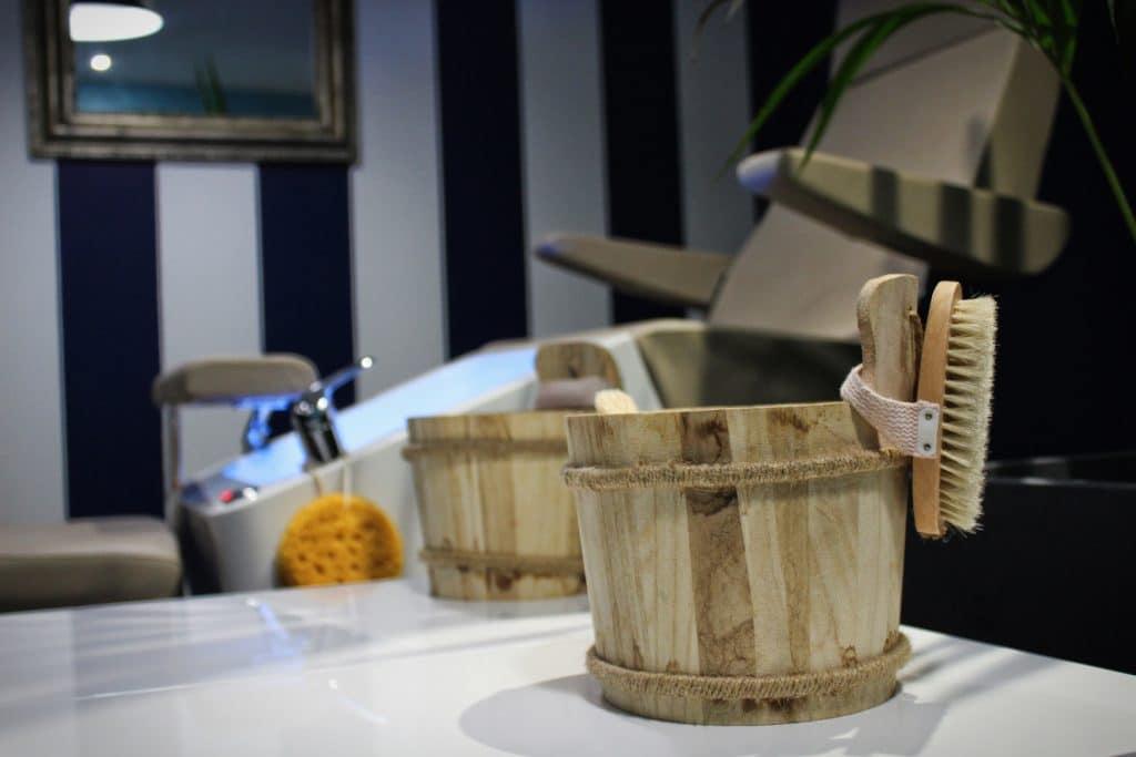 Espace détente pour la pédicure au Manucure Store des Chartrons