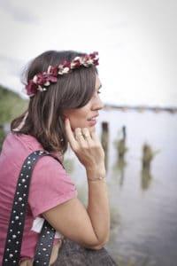 look bohème couronne de fleurs