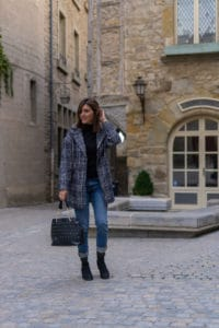 Manteau Carreaux Jean Boyfriend