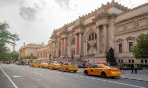 Met taxi jaunes New-York