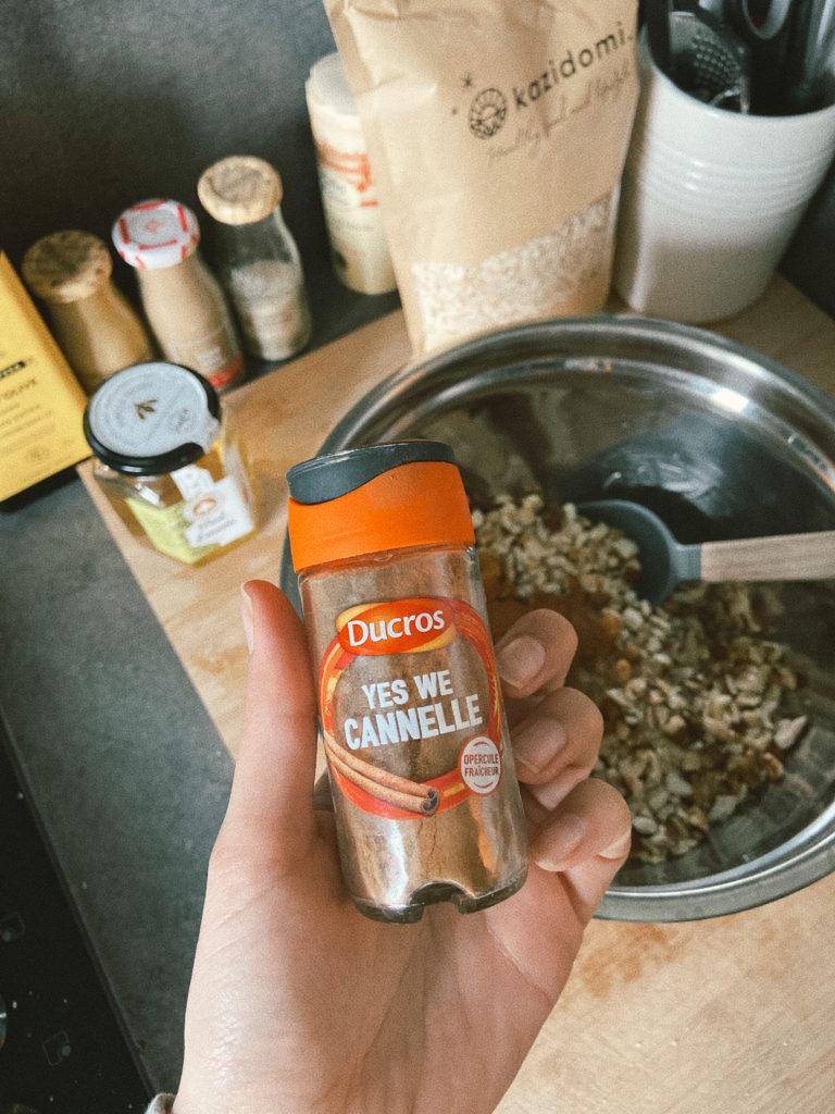 cannelle pour faire granola maison