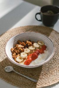 granola fraise banane