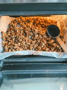 cuisson du granola maison